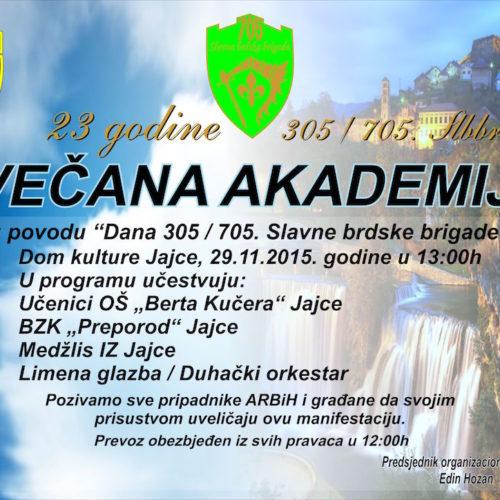 JAJCE: Obilježavanje godišnjice formiranja 305./705. Slavne brdske brigade
