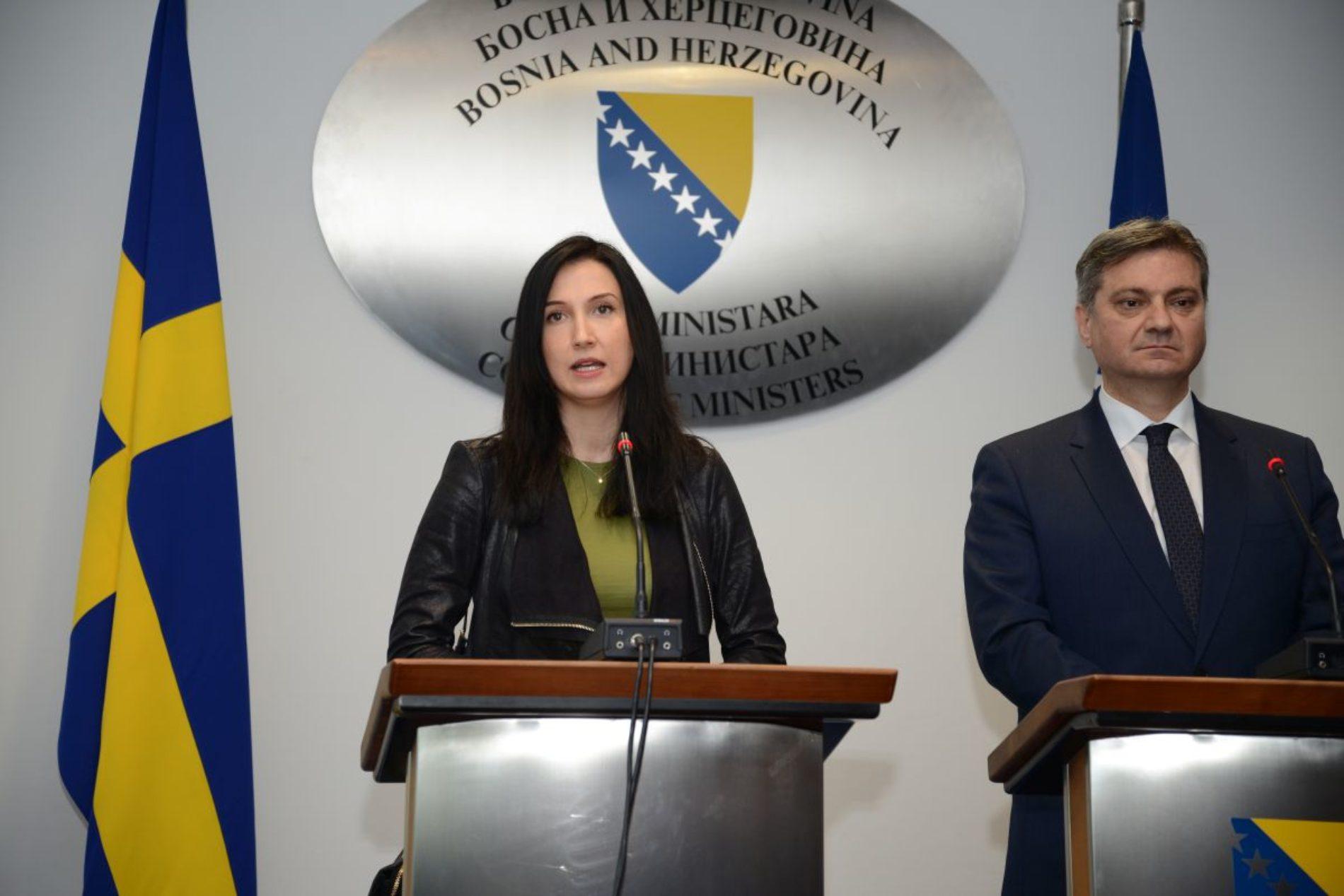 Švedska ministrica Aida Hadžialić započela zvaničnu posjetu Bosni i Hercegovini
