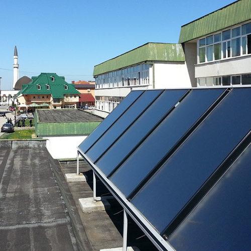 MSŠ Kalesija prva u BiH: Solarnim kolektorima zagrijavaju vodu u školi i fiskulturnu salu