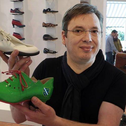 Vučićeve izjave o cipelama izazvale podsmijeh u Bosni