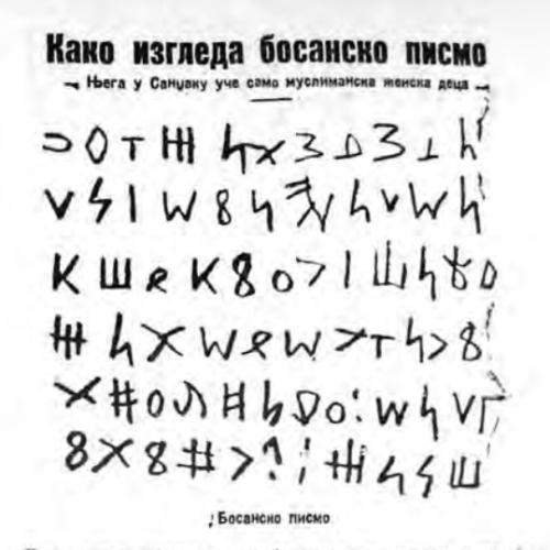 Tekst u 'Politici' 1928. – Kako izgleda bosansko pismo