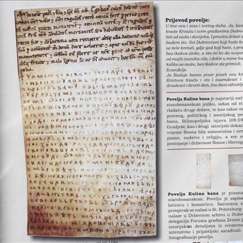 U Zenici obilježeno 827. godina od nastanka Povelje Kulina bana