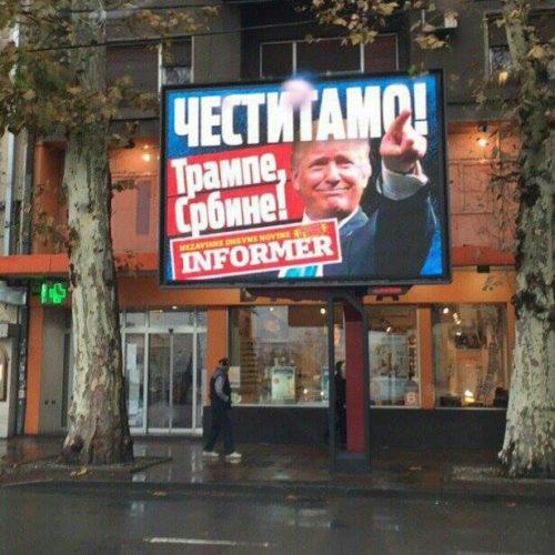 Tabloidna histerija u Srbiji zbog pobjede Donalda Trumpa