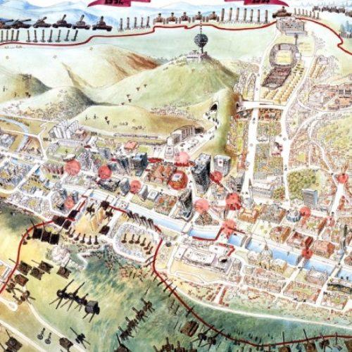 Mapa opsade Sarajeva u britanskoj Nacionalnoj biblioteci