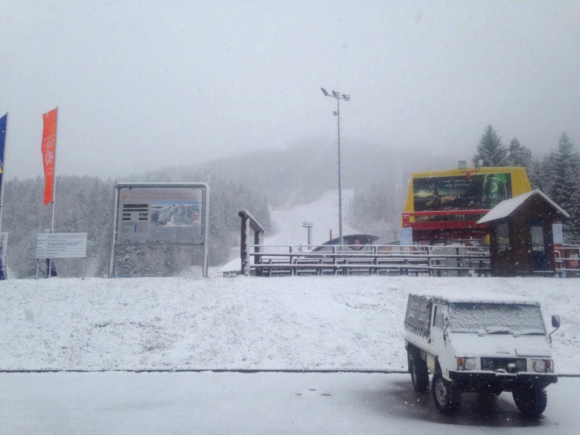 Snijeg na olimpijskim planinama