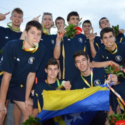 Kadetska košarkaška reprezentacija  Bosne i Hercegovine osvojila zlato na  EYOF-u