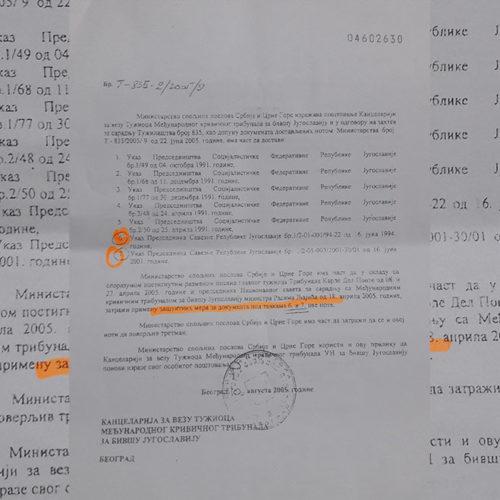 Dokumenta bila pod embargom: Mladiću čin dao predsjednik SRJ, na platnom spisku VJ bio do 2001.