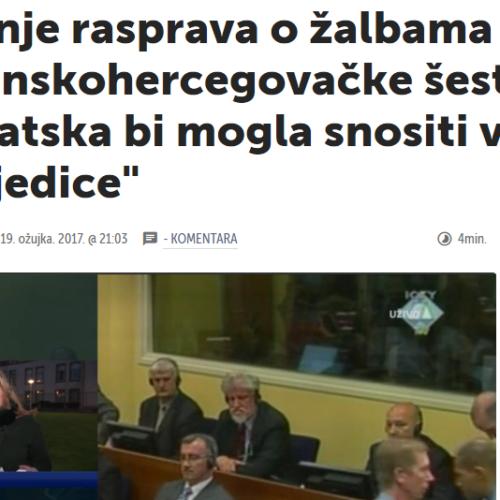 Mediji u RH o procesu Prliću i društvu: 'Hrvatska bi mogla snositi velike posljedice'