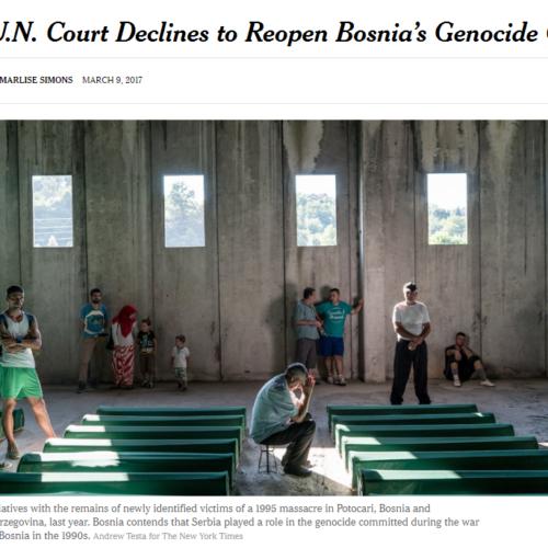 New York Times o odbijanju revizije presude: Međunarodni sud pravde nije poštovao vlastita pravila i statut