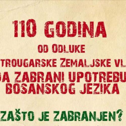 'Zašto je zabranjen bosanski jezik' – knjiga povodom 110 godina od pokušaja austrougarske vlade da dokine bosanski jezik