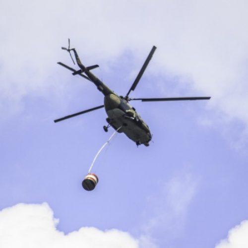 Helikopter OS BiH gasio požar na planini Čvrsnici (Video)
