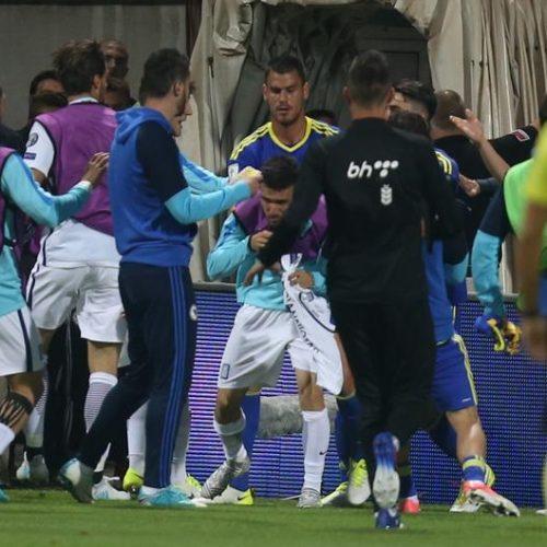 NSBiH: Na kraju utakmice naši fudbaleri  i pojedinji članovi stručnog štaba nasjeli su na provokacije