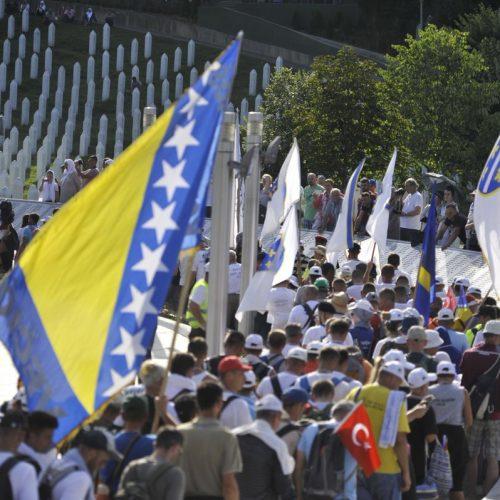 Učesnici Marša mira stigli u Potočare