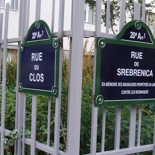 """Ulica """"Srebrenica"""" u francuskoj metropoli"""