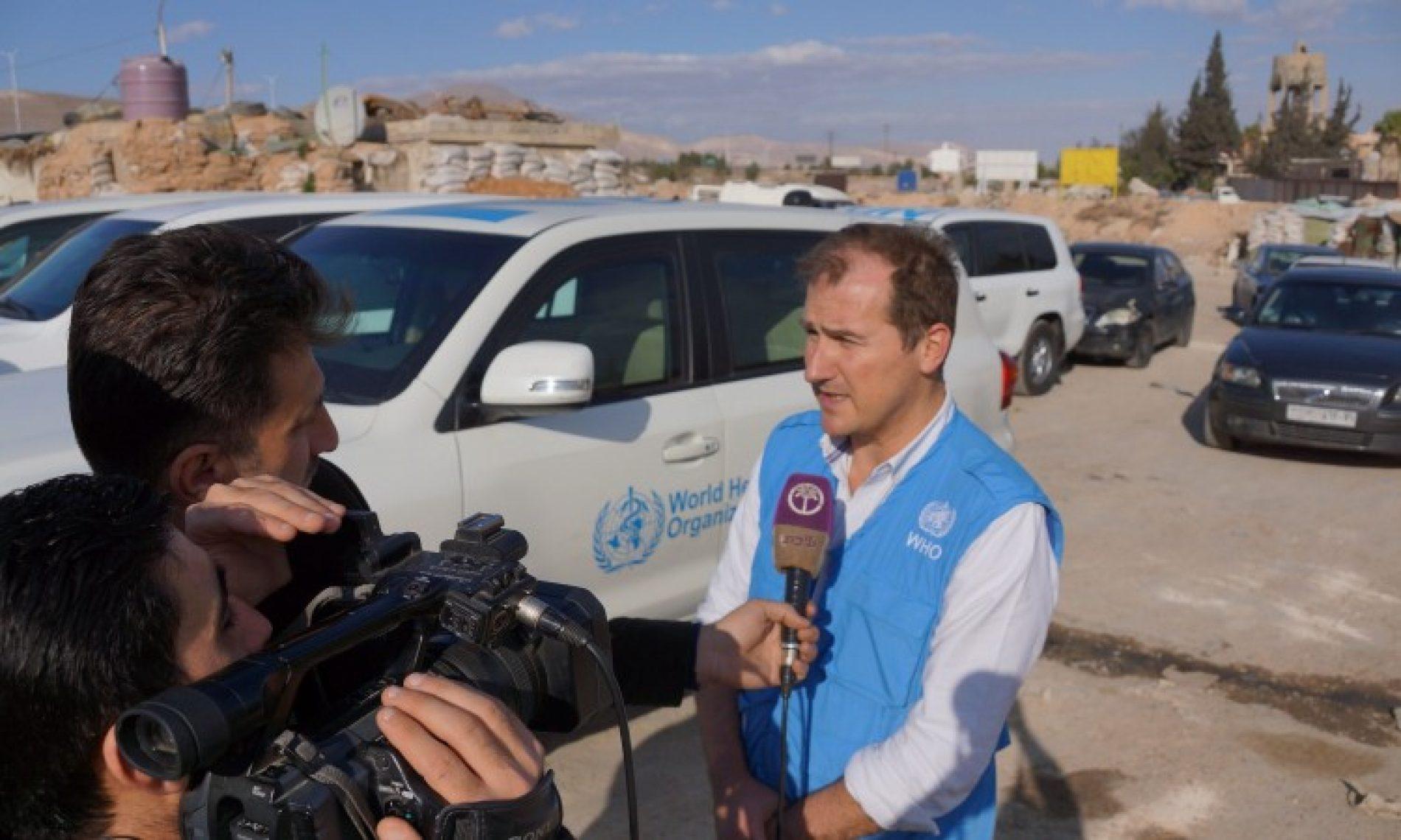 Tarik Jašarević, glasnogovornik Svjetske zdravstvene organizacije: Damask podsjeća na Sarajevo iz 1993.
