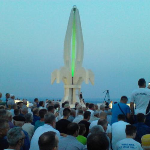 Otkriven spomenik 'Ljiljan' podignut u čast pripadnika Armije Bosne i Hercegovine (Foto)