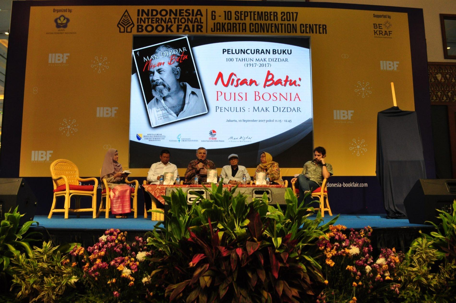 """Na Međunarodnom sajmu knjiga u Jakarti promoviran indonežanski prijevod """"Kamenog spavača"""""""