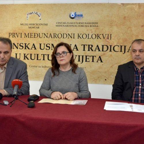 Prvi međunarodni kolokvij 'Bosanska usmena tradicija u kulturi svijeta'