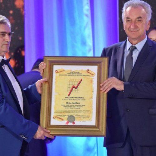 """Nagrade najuspješnijim menadžerima i ličnostima godine – Ministru Šaroviću uručena nagrada """"Ličnost godine BiH"""""""