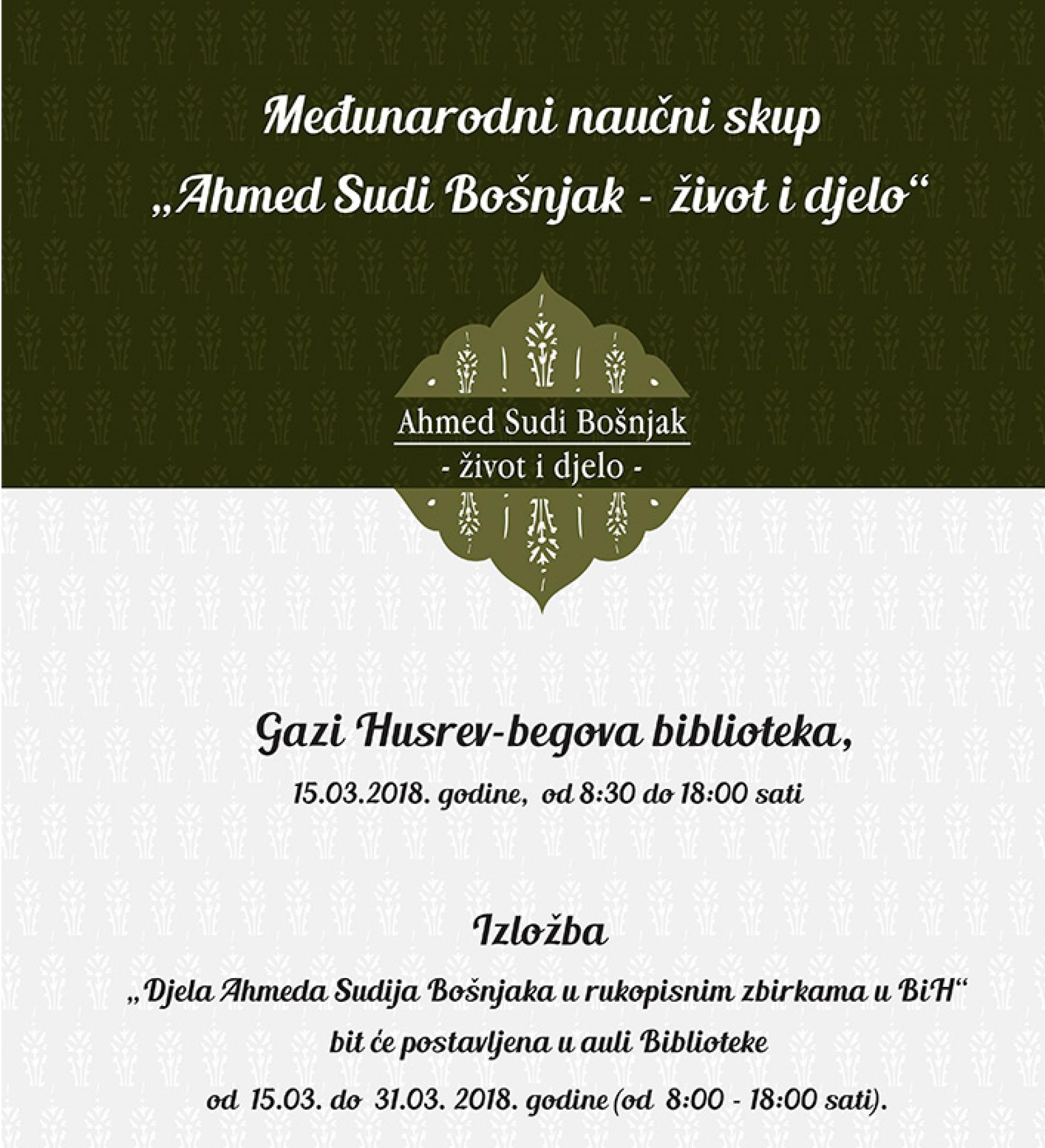 Ahmed Sudi Bošnjak, važna ličnost iz historije Bosne i Hercegovine
