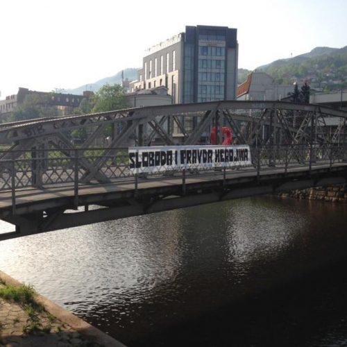 """Eiffelov most u Sarajevu: """"Sloboda i pravda herojima"""""""