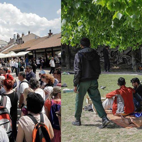 Glavni grad Bosne i Hercegovine istovremeno preplavljen turistima i migrantima