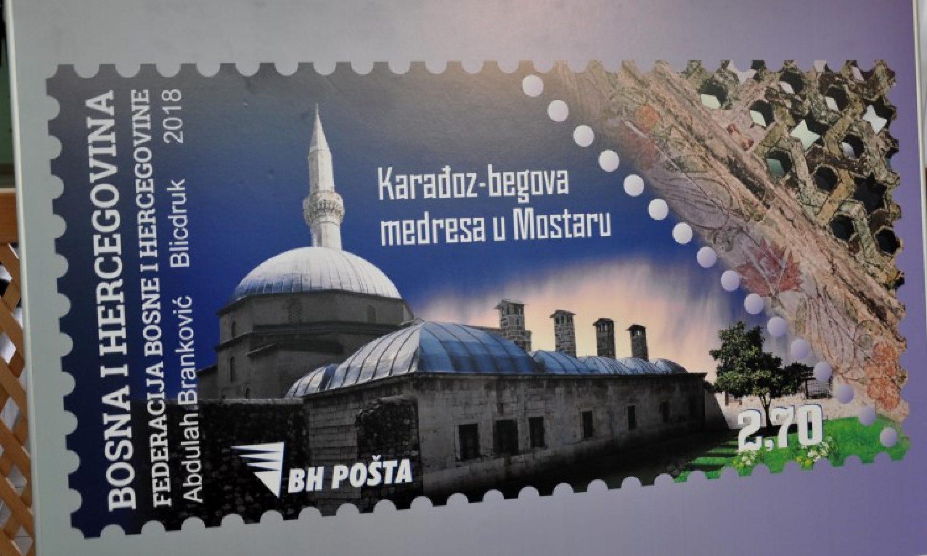 U Mostaru promovisana poštanska marka 'Karađoz-begova medresa'