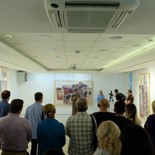 """Izložba """"Velika alegorija o Srebrenici"""" umjetnika Mersada Berbera otvorena u Galeriji Općine Novi Grad"""