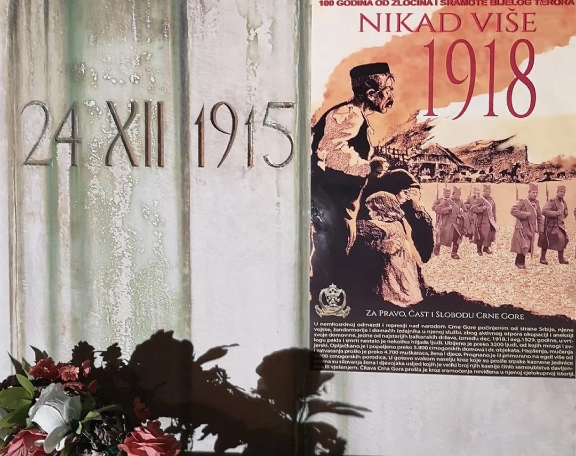 Crnogorci na stogodišnjicu od srpske okupacije: Nikad više 1918!