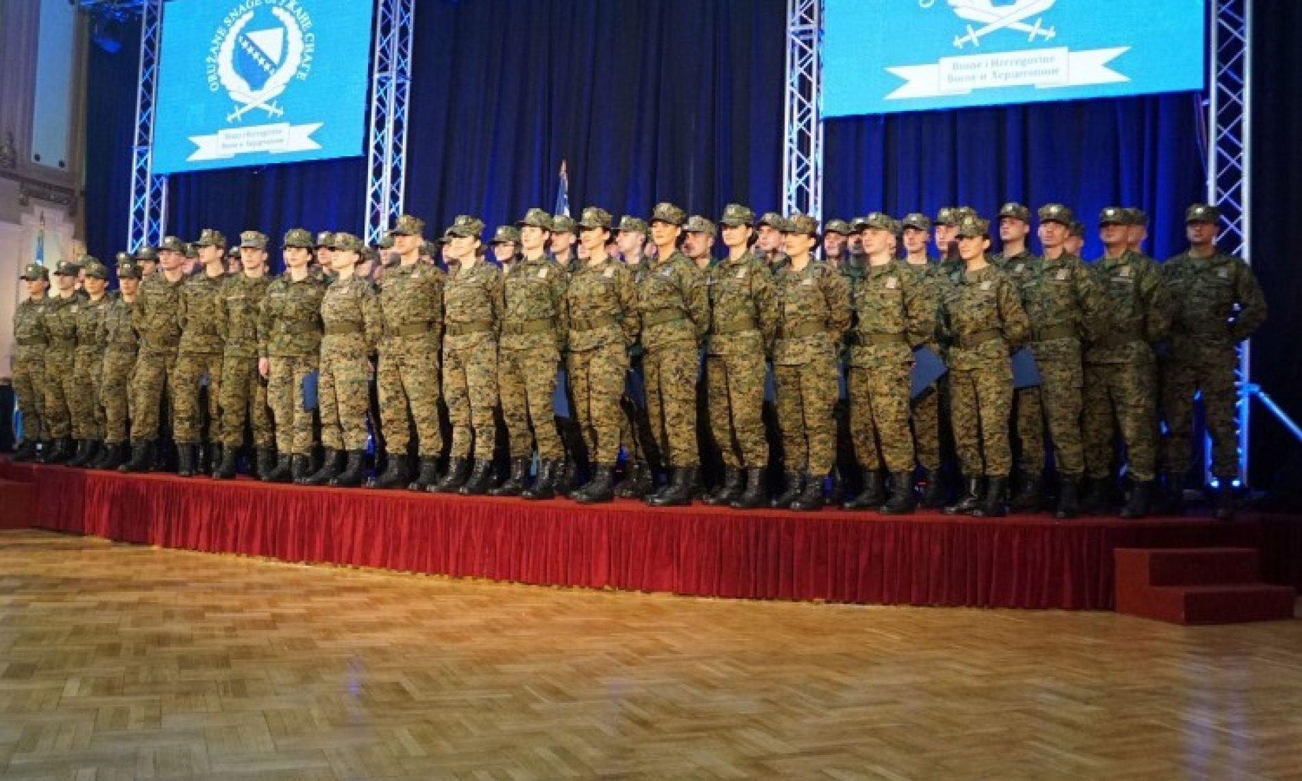 Promovisana Peta klasa mladih oficira Oružanih snaga Bosne i Hercegovine
