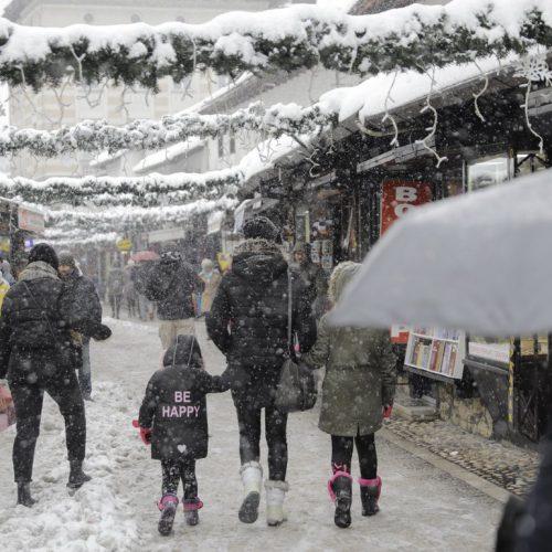 Sarajevo: Snježna idila u gradu i na Trebeviću