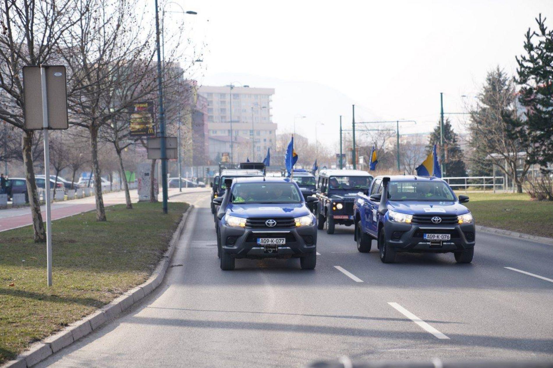 U Sarajevu održan defile u čast početka EYOF-a