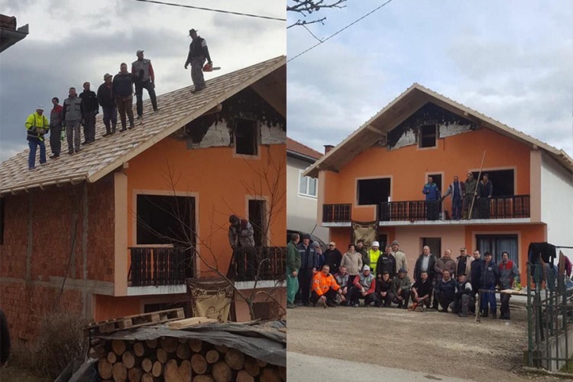 SANSKI MOST: Komšije nakon požara porodici izgradile novi krov