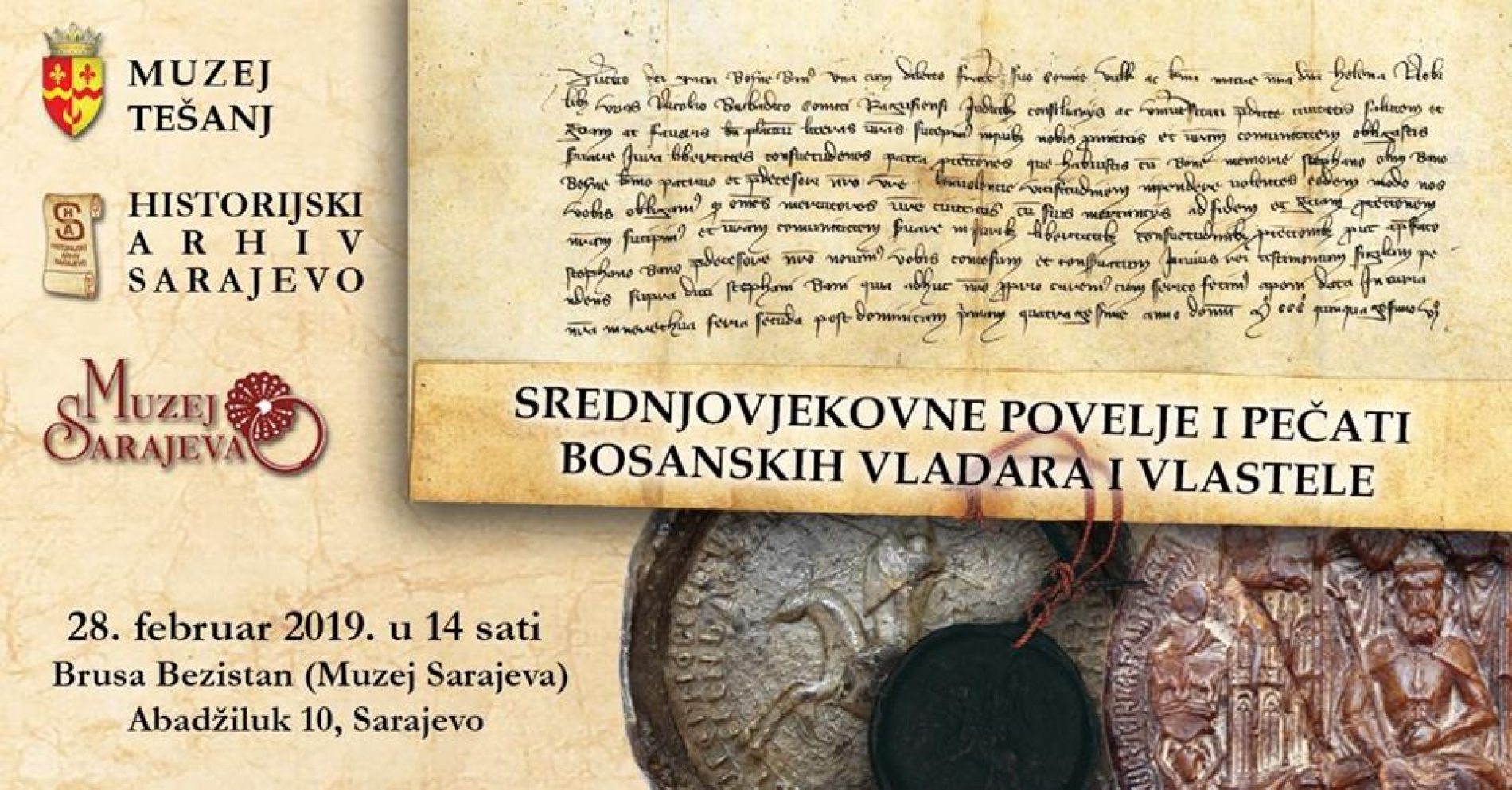Srednjovjekovne povelje i pečati bosanskih vladara i vlastele – izložba povodom Dana nezavisnosti