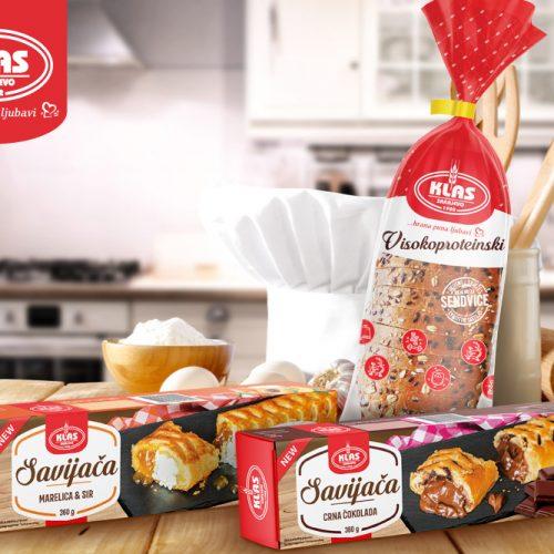 Novo iz Klasa: Na tržištu savijače u tri okusa i visokoproteinski hljeb u novom pakovanju
