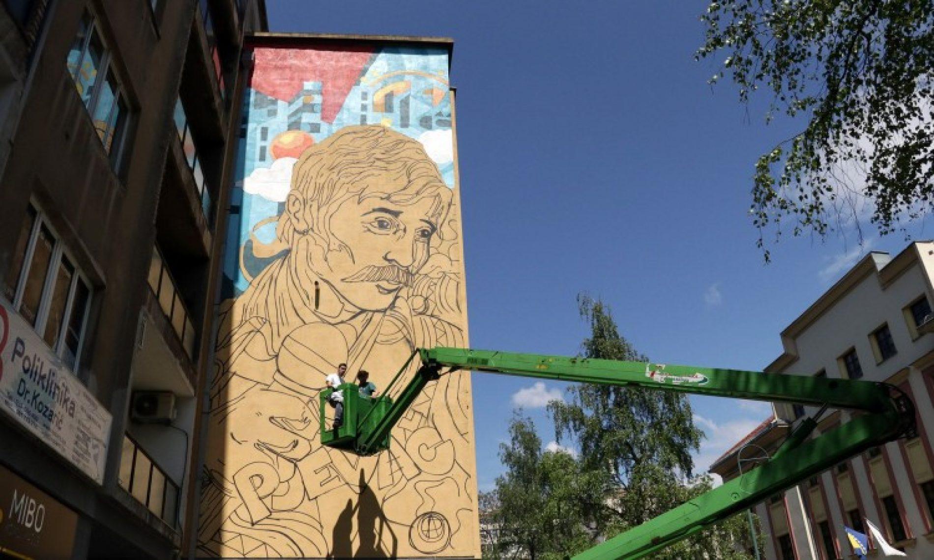 Mural Davorina Popovića u Radićevoj ulici u Sarajevu