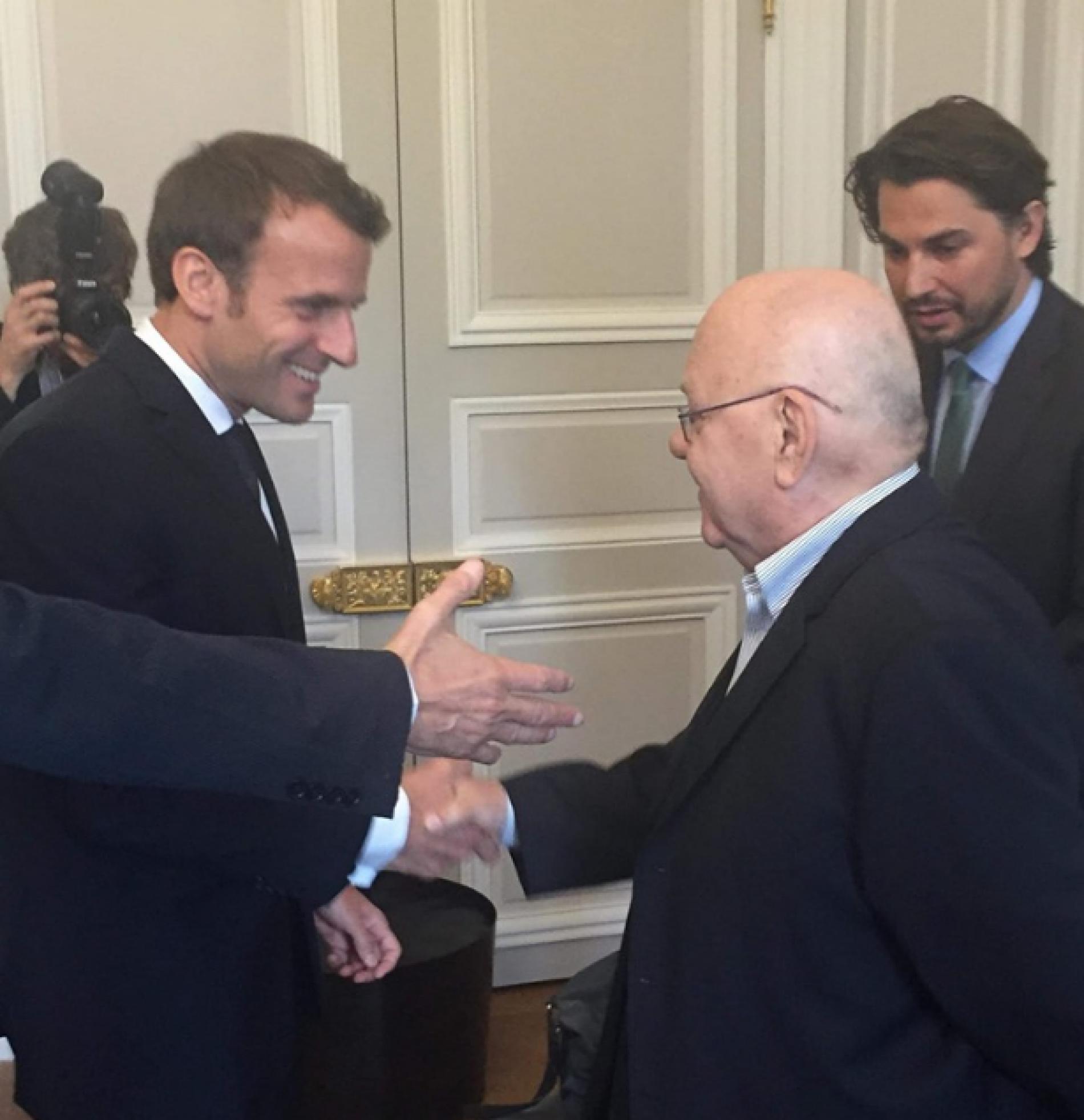 Abdulah Sidran na ručku kod predsjednika Francuske