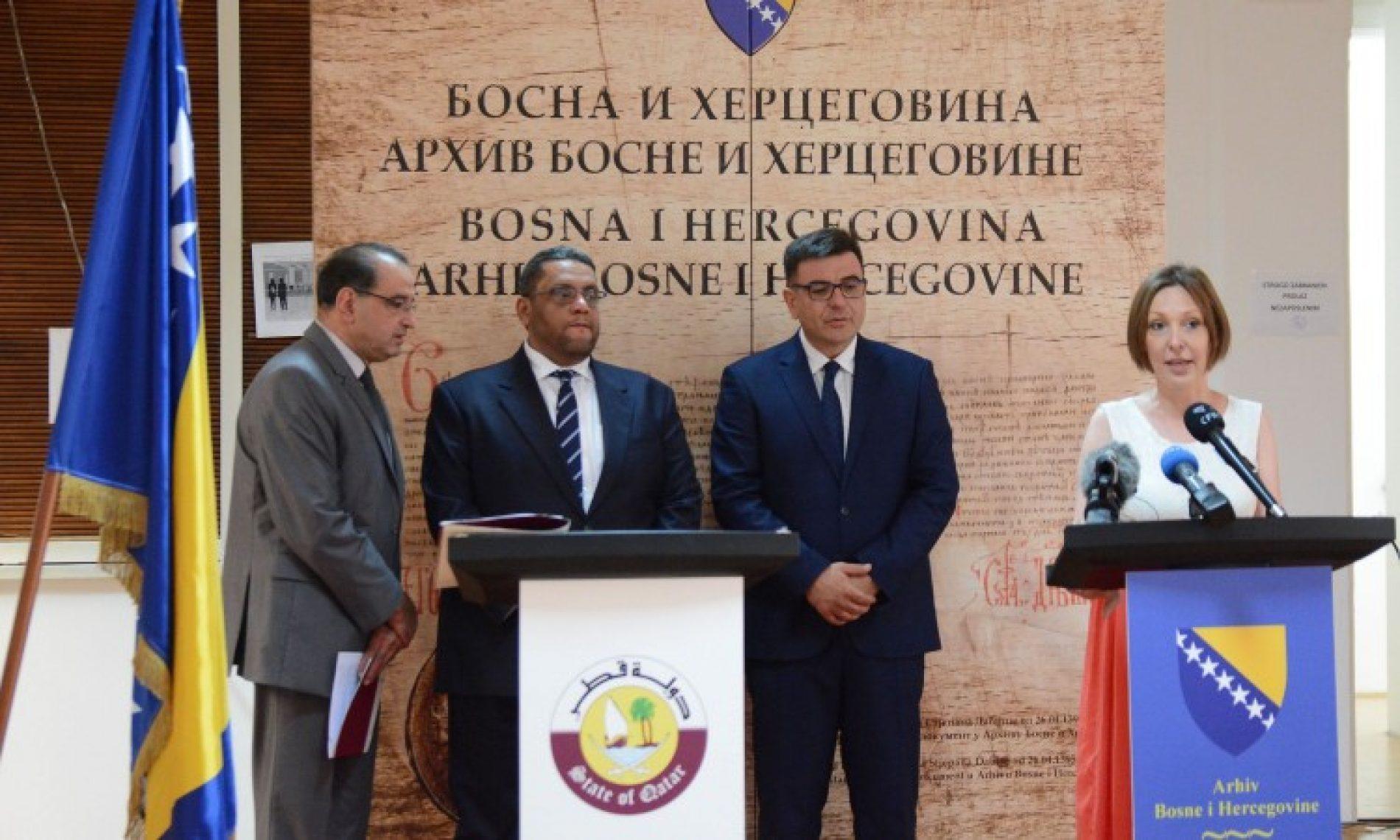 Katar donacijom pomaže rekonstrukciju depoa Arhiva  Bosne i Hercegovine