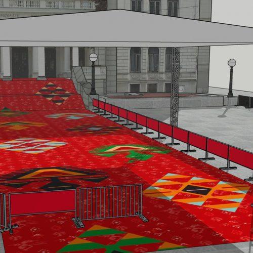 Novi crveni tepih (bosanski ćilim) za jubilarni, 25. SFF