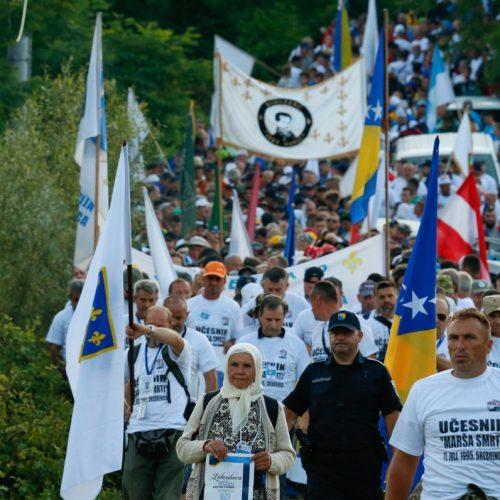 Učesnici Marša mira stigli u Potočare: Na čelu kolone preživjeli Srebreničani