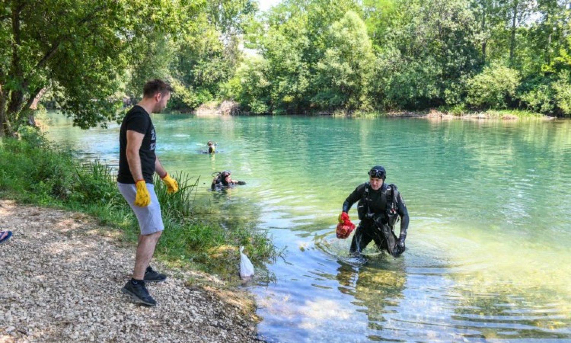 Ronioci očistili korito i priobalje rijeke Bune kod Mostara