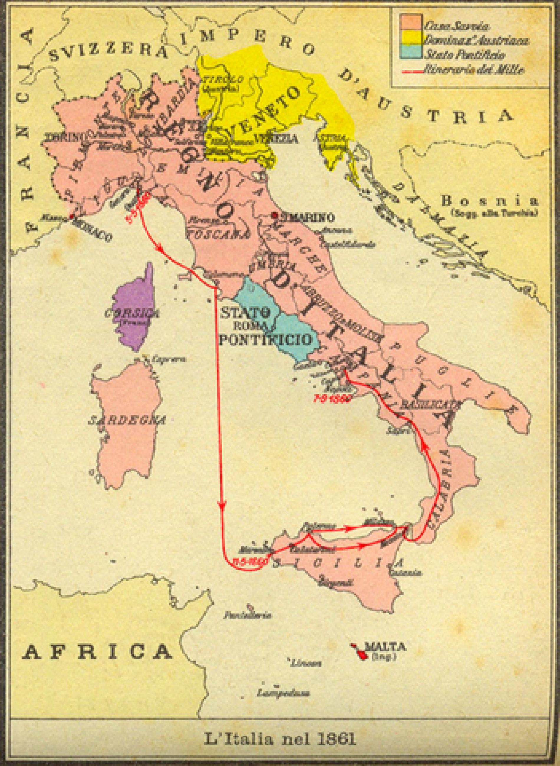 Diplomatski odnosi između Italije i naše zemlje uspostavljeni 1863. godine