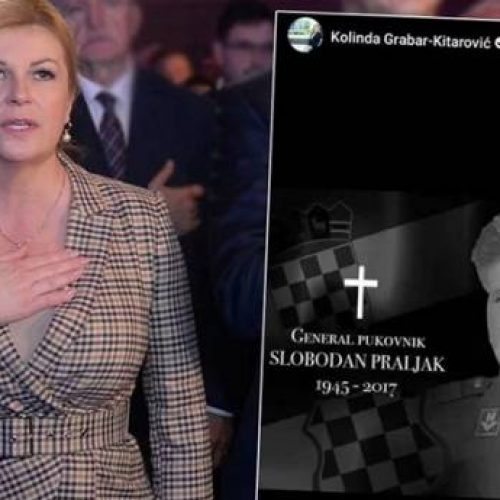 Predsjednica RH odala počast osuđenom ratnom zločincu Praljku