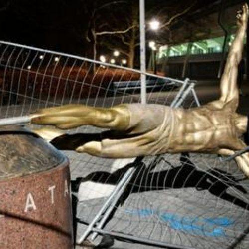 Srušen kip Zlatana Ibrahimovića u Malmeu