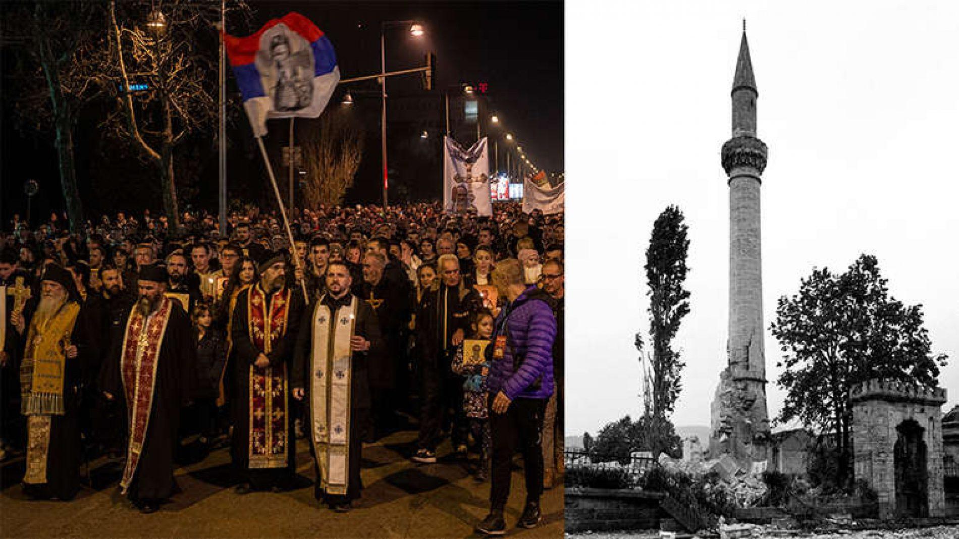 Velikosrpski vitezovi: Malo rušimo džamije, malo branimo svetinje