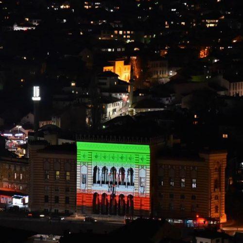 Sarajevska vijećnica u bojama Irana