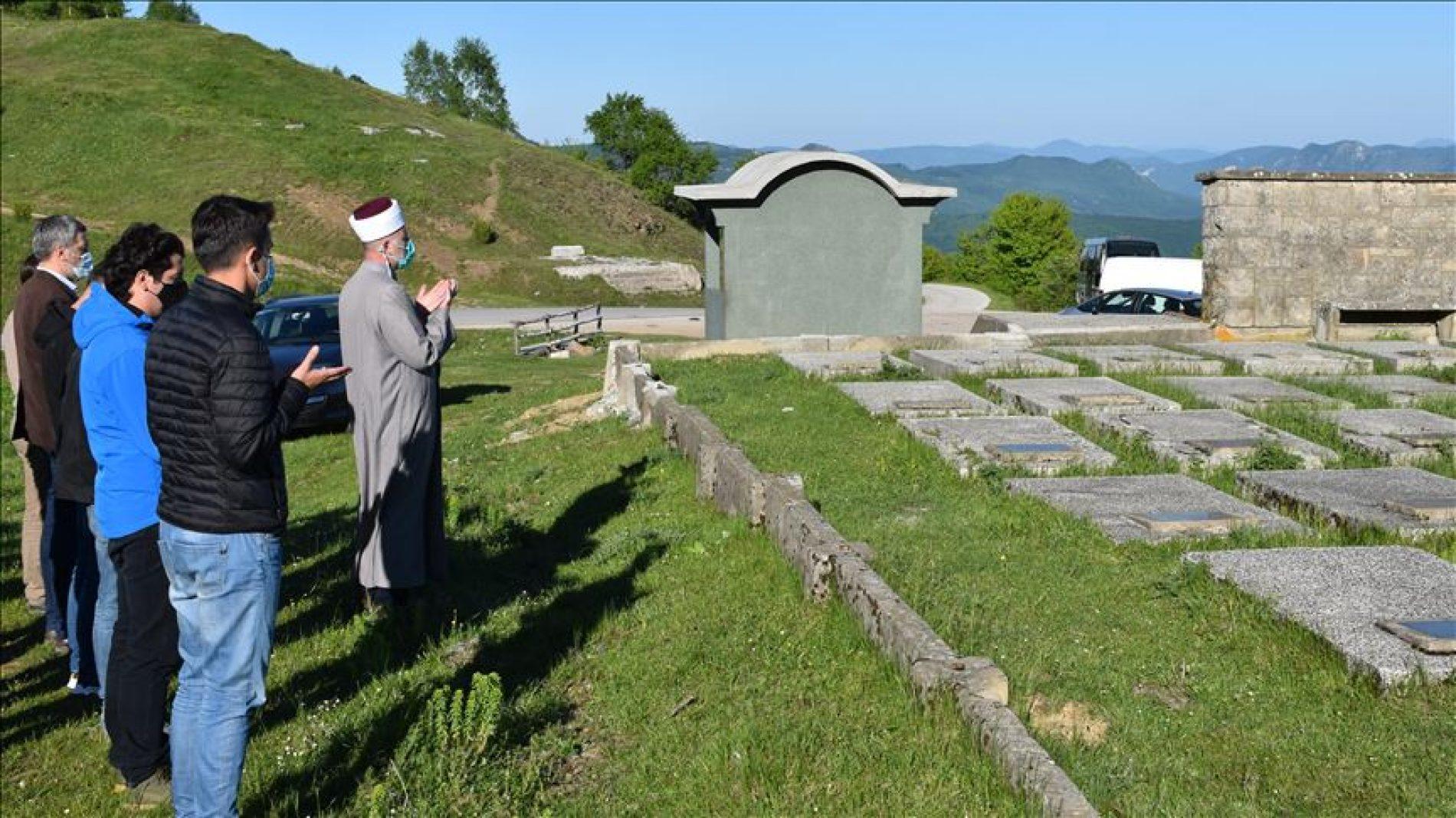 Partizansko groblje Hranjen kod Goražda: Dova i minuta šutnje za partizane poginule u Drugom svjetskom ratu