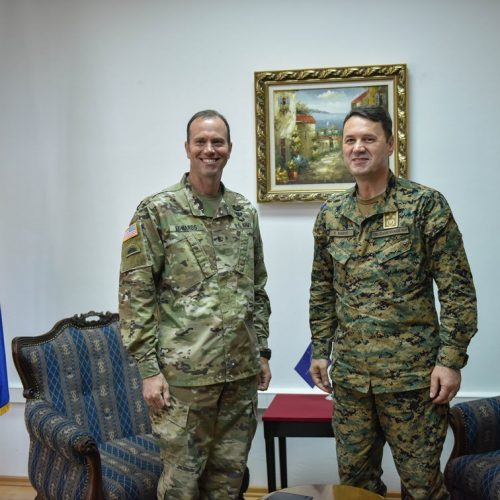 Sastanak generalpukovnika Senada Mašovića sa komadantom NATO Štaba Sarajevo brigadnim generalom William Edwardsom
