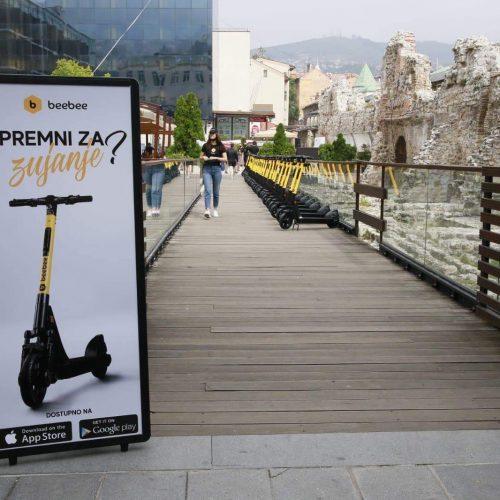 BeeBee električni romobili će od naredne sedmice biti dostupni građanima Sarajeva