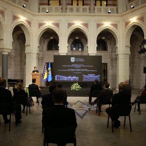 """U Vijećnici otvorena stalna postavka """"Prikaz rada i doprinosa Međunarodnog krivičnog suda za bivšu Jugoslaviju (MKSJ)"""""""